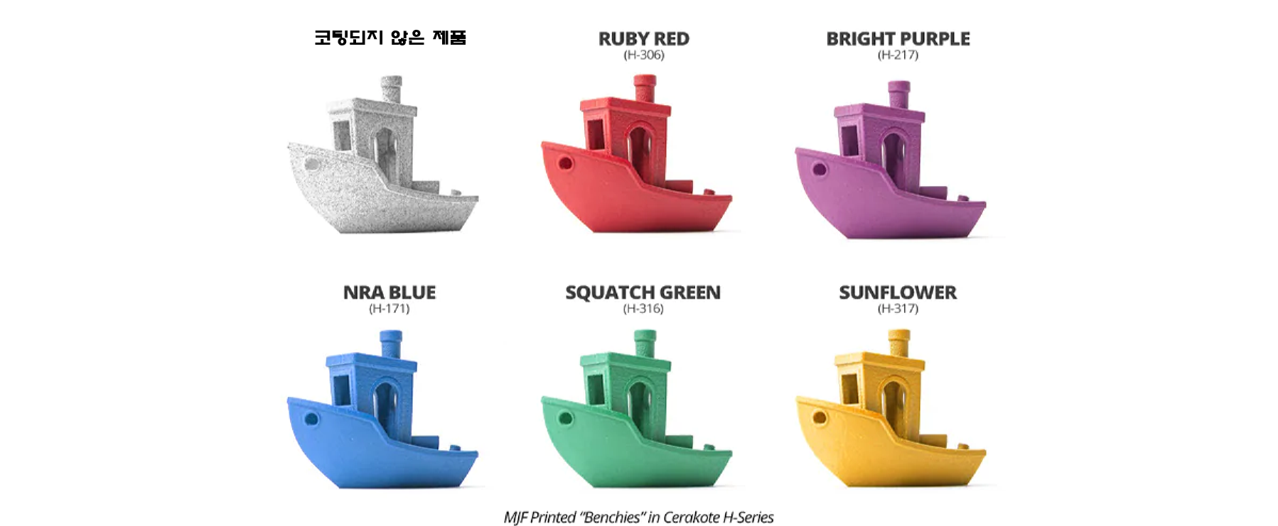 MJF 3D Printed Benchies in H-Series